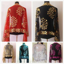 HOT! New Chinese Lady Women Beaded Sequin Shawl/Scarf Wraps Peacock&Flower .