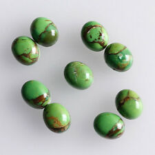 8x6MM Oval Shape, Green Copper Turquoise Calibrated Cabochons AG-213