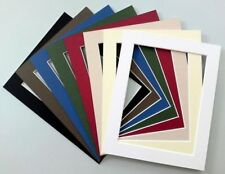 """7 x 5"""" Cardboard Photo/Picture MOUNTS - Choice of colours & cut out sizes"""
