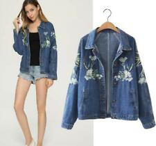 New fashion Women's vintage Embroidered denim JACKET Spring and Autumn Coat