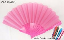Chinese Japanese Folding Fan/ Solid Fabric Hand Fan *USA SELLER, SHIP FAST*