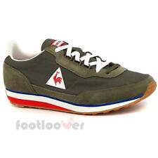 Shoes Le Coq Sportif AZStyle 1711410 Man Suede Nylon Olive Blue Sneakers Casual