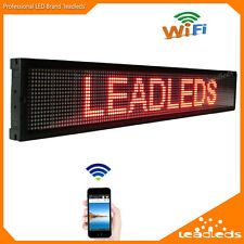 Leadleds WIFI LED Sign Scrolling Message Display Board APP Fast Programming