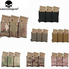 Emersongear Tactical Molle Triple Open Airsoft AEG Mag Magazine Vest Pouch Bags