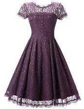Womens Vintage 1950s Retro Lace up Rockabilly Pinup Housewife Party Swing Dress