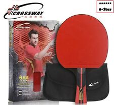 Crossway 6-Star Racket + case set tennis table racket ping pong paddle blade bat