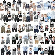 Baby Boy Wedding Christening Formal Tuxedo Suit Party Outfit Clothes Newborn-24M