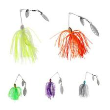 Spinner Spoon Bait Jig Fish Hook Bass Beard Fishing Lures Spinnerbait Tackle