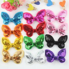 Pet Dog Sequin Hair Clips Bowknot Pet Grooming hairpins bows puppy Topknot