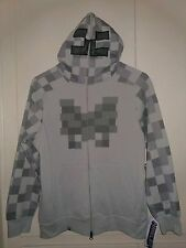 NWT Youth Kids Jinx Minecraft Costume Hoodie Gray Skeleton Face Game XS--L