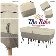 Belltown Outdoor Patio Table Set Cover Rectangular/Oval - Water Resistant Patio