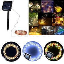 10-20M 100-200 LEDS Night Fairy String Lights Xmas Garden Solar copper wire lamp