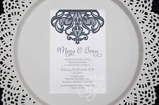 Laser cut detail Wedding Invitation - choice of colours - Personalised sample