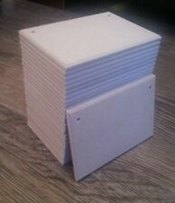 """27 blank mdf plaques 6""""x4"""" x 6mm wooden craft hobby with without holes bulk buy"""