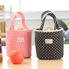 Hot Lunch Bag Thermal Insulated Dot Eiffel Tower Printing Lunch Box Cooler Tote