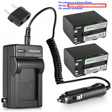 Kastar Battery Charger Canon BP-970G XF100 XF105 XF200 XF205 XF300 XF305 XH A1S