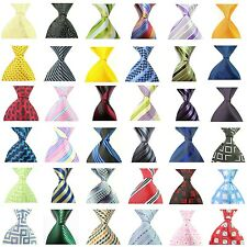 Hot! Striped Plain Classic 100% Silk Necktie Jacquard Woven Necktie Men's Tie