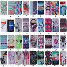 Pattern PU Leather Wallet Pouch Flip Stand Magnetic Case Skin Cover For Samsung