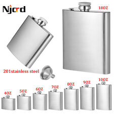 Portable Stainless Steel Hip Flask Vodka Whisky Wine Pot Hip Flask with Funnel