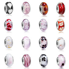 Sterling European 925 Silver Murano Glass Charms Bead for Bracelet Necklace US23