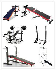Home Gym Equipment Weight Bench Squat Rack Fitness Power Tower Dumbell Crunch NR