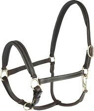 Horze Leather Show Stable Turnout Halter Brown Black Pony Cob Horse Warmblood