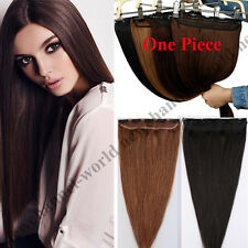 50-100g One Piece Clip in Hair Extensions 100% Remy Human Hair 3/4Full Head B090