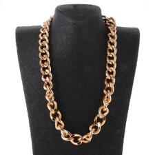 """GOLD CURB PUNK HEAVY CHUNKY MENS WOMEN SOLID HIPHOP LONG CHAIN NECKLACE18/23/37"""""""
