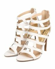 New Women Qupid Interest-127 Leatherette Caged Open Toe Stiletto Sandal Size