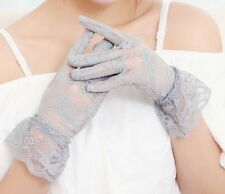Women's Vintage Lace Gloves UV Protection Driving Gloves Wedding Bridal Mittens