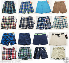 NWt Boys Shorts OshKosh Carters Chaps NEW 12m 18m 24m 2t 3t 4t blue white plaid