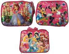 KIDS CHILDRENS CHARACTER LUNCH BAG INSULATED SCHOOL SHOULDER/CARRY STRAP ZIP