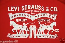 Levi's T Shirt Levis Strauss & Co Classic Logo Red 100% Cotton Levis