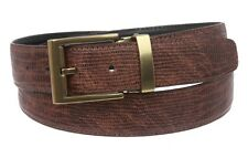 Men's 1 1/4 Inch Clamp On One Size Fits All Snake Print Patent Faux Leather Belt