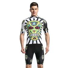 Logas Mens Breathable Cycling Jersey And Bib Shorts Set With 3D Padded Bicycle