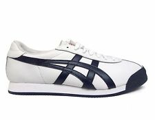 Asics Unisex Onitsuka Tiger PULLUS Casual Shoes White/Navy D436L-0150 a2