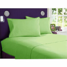 New Collection 1000TC Egyptian Cotton 4 Pc Sheet Set All Size Sage  Solid Color