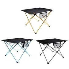 Outdoor Portable Aluminum Alloy Camping Picnic Table Folding Dining BBQ Desk