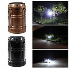 6 LED Solar Rechargeable Outdoor Camping Hiking Folding Light Lamp Lantern Tent