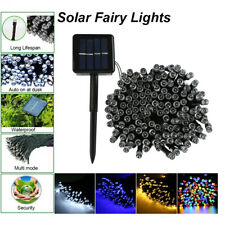100/200/500 LED String Solar Powered Fairy Lights Garden Christmas Party Outdoor