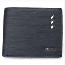 Short Wallet Men's PU Leather Wallets Purse Male Clutch Wallets Mens Money Bags