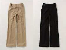 ANTHROPOLOGIE Elevenses Wide Leg Linen Cmmrbnd Pants Sz 12 NWOT Khaki/Black SALE