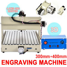 3Axis/4 Axis CNC Router Engraver Engraving Drilling Milling Desktop Machine 220V