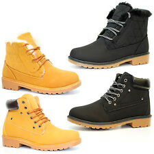 Womens Hiking Boots Girls Ankle Desert Trail Combat Chelsea Walking Shoes Sizes