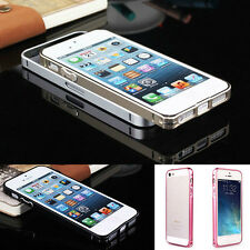 Black Ultra Aluminum Buckle Open Metal Bumper Case Cover For iphone 5/5S/5G