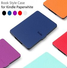 PU Leather Smart Magnetic Case Cover For Amazon Kindle+Screen Protector