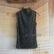 Ladies Sheer Tank Top Shiny Vest Tops Sleeveless Blouse Glitter Camisole Sparkle