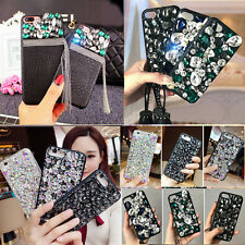 For Apple iPhone 7 6S 6 Plus Luxury Bling Glitter Crystal Diamond Case Cover