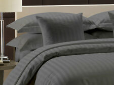 """New Hotel Collection Egyptian Cotton """"Gray"""" Striped 1000TC 100% US Bedding Item"""
