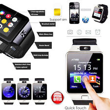 DZ09 Bluetooth Sport Smart Watch Camera Phone Mate GSM SIM Card For Android IOS